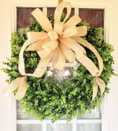 Mothers Day Wreath, Valentine Day Wreaths, Valentine Day Gifts, Christmas Gifts, Wreaths For Front Door, Door Wreaths, Boxwood Wreath, Year Round Wreath, Fall Door