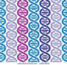 Dna seamless pattern, science vector background. by Goldenarts, via Shutterstock