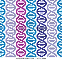 Dna seamless pattern, science vector background. by Goldenarts, via Shutterstock