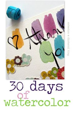 caterina e dintorni: 30 days of watercolor / six