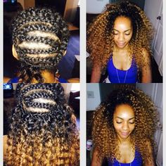 Crochet Braids FAQs – 9 Of Your Questions Answered Ombre Crochet Braids, Crochet Braids Hairstyles, Crochet Hair Styles, Crotchet Braids, Braided Hairstyles, Curly Crochet Hair, Unique Hairstyles, Protective Hairstyles, Wedding Hairstyles