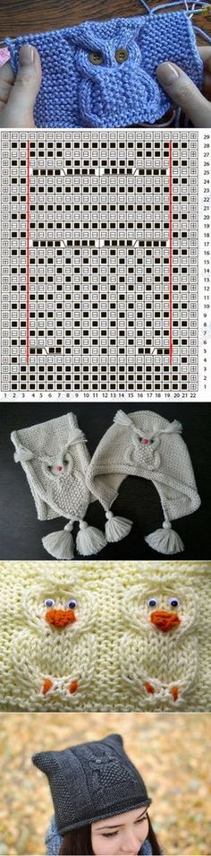 Baby Knitting Patterns Узор СОВА спицами: видео-урок схемы и идеи Baby Knitting Patterns, Owl Patterns, Knitting Charts, Knitting Stitches, Free Knitting, Stitch Patterns, Crochet Patterns, Knitting Sweaters, Bonnet Crochet