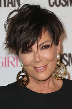 Kris Jenner Messy Cut - Kris Jenner worked a just-got-out-of-bed look during Cosmpolitan's 50th birthday celebration.