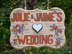 cute wedding sign - http://ncweddingministerblog.blogspot.com/2013/11/love-triumphs-as-julie-and-jaime-have.html