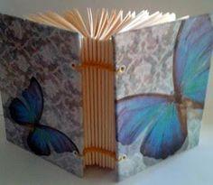 Mini caderno - encadernação manual