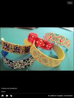 Armband aus eisstäbchen