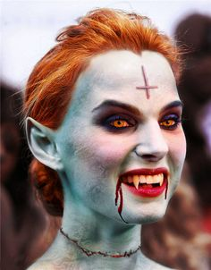 Girl with great vampire makeup