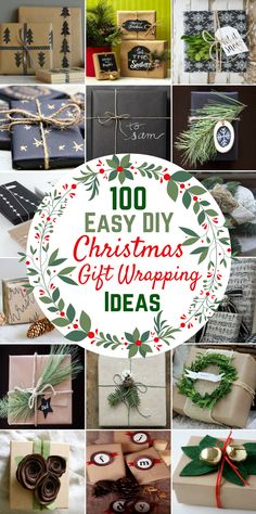 100 Easy DIY Christmas Gift Wrapping Ideas