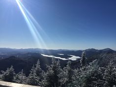 Lake Placid lake from Whiteface Mountain. 1334x750(OC)