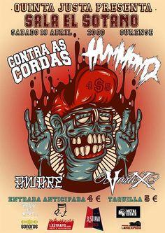 Hummano + Contra as Cordas + Vortex + Aware en El sótano, Ourense concerto concierto music música