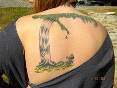 Looks just like the illustrator did it. The Giving Tree bookcover tattoo.