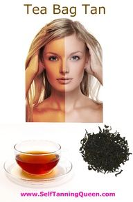 Must try this! The perfect recipe for a black tea bag self tan! awesome