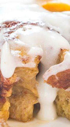 The Best Pumpkin Cinnamon Rolls - Averie Cooks Yummy Treats, Delicious Desserts, Dessert Recipes, Yummy Food, Pumpkin Recipes, Fall Recipes, Cinnamon Recipes, Thanksgiving Recipes, Summer Recipes