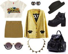 """""""Back to vintage"""" by callmeends ❤ liked on Polyvore. I don't really like the boots bust maybe with some loafers"""