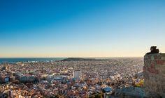 View of Barcelona from El Turó de la Rovira, a civil war gun emplacement on a hill near Park Güell.