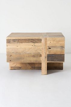 Wooden Block Side Table #anthropologie -will have to make a version of this...