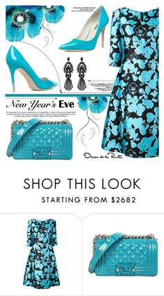 """""""NYE Dance Party"""" by yurisnazalieth ❤ liked on Polyvore featuring Oscar de la Renta, ShoeDazzle and Gucci"""