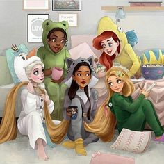 Disney Princesses Reimagined In Current Times Creative minds out there have reimagined Disney princesses in more modern times.Creative minds out there have reimagined Disney princesses in more modern times. Disney Magic, Disney Pixar, Animation Disney, Disney Fan Art, Disney Movies, Disney Rapunzel, All Disney Princesses, Punk Disney, Twisted Princesses