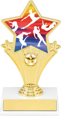 3RD PLACE BRONZE TROPHY ENGRAVED FREE GOLD AWARD ACHIEVEMENT WELL DONE TROPHIES