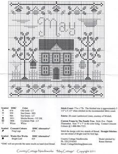 Cross Stitch House, Cross Stitch Books, Just Cross Stitch, Cross Stitch Samplers, Counted Cross Stitch Patterns, Cross Stitch Charts, Cross Stitch Designs, Cross Stitching, Cross Stitch Embroidery