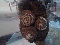 DIY Jarron reciclando calecetonas y envase de refresco pet /Vase using s...