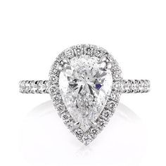 4.02ct Pear Shaped Diamond Engagement Ring                                                                                                                                                     More