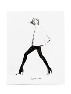 11x14 in or 8x10 in Poster. About Garance Doré is an illustrator, photographer and fashion blogger. Her illustration talent has allowed her to collaborate creatively with Vogue Paris, Dior, Chopard, L