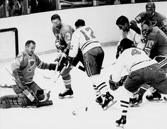 The veteran-laden Blues (their roster included such future Hall of Famers as Dickie Moore and Doug Harvey) finished third at 27-31-16 but rode the superb netminding of all-time great Glenn Hall to the first of the franchise's three successive Cup final appearances. After a seven-game first-round upset of the division-winning Flyers, the Blues went the distance against the North