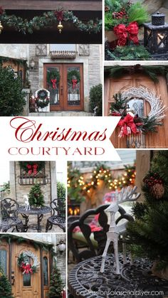Christmas Courtyard at Confessions of a Serial Do-it-Yourselfer