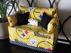 Pittsburgh Steelers Tissue Box Couch Cover