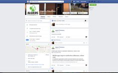 Facebook page for Algiers Pharmacy with bi-weekly postings.