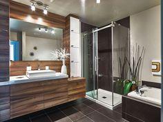 Basin Design, Reno, Beautiful Bathrooms, Condominium, Alcove, Sweet Home, Bathtub, Design Inspiration, Mirror