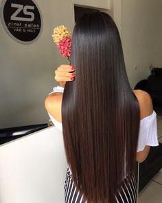 Long Hair V Cut, V Cut Hair, Long Dark Hair, Indian Long Hair Braid, Braids For Long Hair, Beautiful Long Hair, Gorgeous Hair, Pretty Hairstyles, Straight Hairstyles