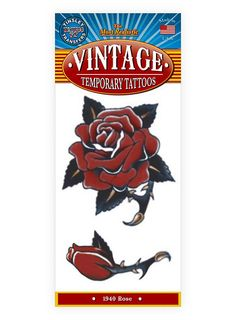 Rose Vintage Klebe-Tattoo