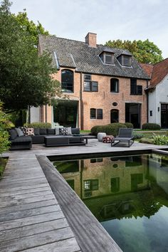 Interior and Architecture Beautiful Buildings, Beautiful Homes, Dutch House, Belgian Style, Mansions Homes, Stone Houses, Classic House, House Goals, Villas