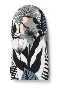 Kasvusto oven mitten by Marimekko Marimekko, Modern Ovens, Textile Patterns, Textiles, Oven Glove, Scandinavian Living, Floral Fashion, Nordic Design, Gray