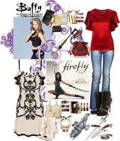 """Buffy Summers & River Tam - Whedon´s ""Slayer-Girls No.1"""" by fashionqueen76 on Polyvore"