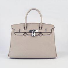 Luxury Replica High Quality Hermes Birkin 6088 Grey Cow Leather Handbag H0932 - luxuryhandbagsoutlet.com