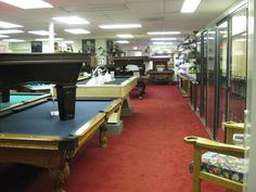 The largest pool table store in the Chicagoland area! Visit Cue-N-Cushion today for game room furniture! Game Room Furniture, Pool Tables, Chicago Area, Cushions, Display, Home Decor, Throw Pillows, Floor Space, Toss Pillows