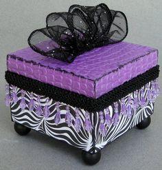 Black White Swirl Keepsake Box by funkyart08 on Etsy, $32.00