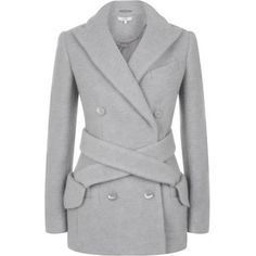 Carven Crushed Wool Jacket style=