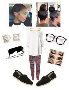 """""""Casual Work Chic"""" by angeliqueamor on Polyvore featuring Blue Nile, Glamorous, TIBI, TOMS and BERRICLE"""