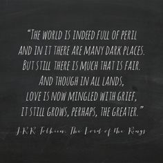 The world is indeed full of peril...