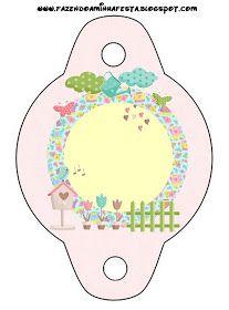 Dicas pra Mamãe: Kit de festa Personalizado com tema Jardim Encantado