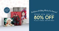 Get your holiday photos on canvas with 80% off + free standard shipping! Exclusions apply. http://www.easycanvasprints.com/single-canvas?utm_campaign=SOC80OFFENDYEAR2015&pcode=42486C67384B61584E516F6B50596B754F623978755371486D326C6D58634E4E