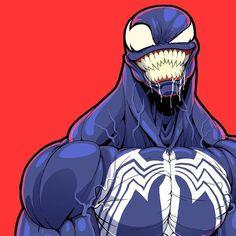 Is Venom the visually best looking symbiote? Venom Comics, Marvel Venom, Marvel Villains, Bd Comics, Marvel Dc Comics, Marvel Heroes, Marvel Avengers, Art Venom, Comic Books Art