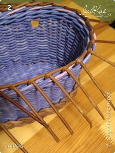 """Здравствуйте коллеги! Сегодня у меня две велокорзинки под одним названием """"корзинка ягодной феи"""", в двух вариантах, т.к. есть явные любители фиолетового цвета, и есть те кто это скрывает. ))) Я отношусь ко вторым ) фото 16"""
