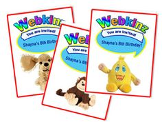 Webkinz Invitations & Games to play at a Webkinz bday party