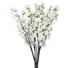 Wedding Decoration 10pcs Artificial Peach Blossom Flower Bouquet With 3 Fork Stems Multicolor Peach Wedding Flower Decoration #Affiliate