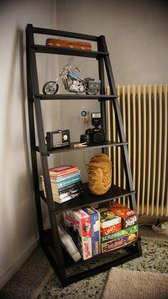 Handmade wooden shelf.